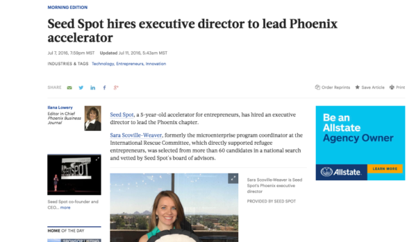 Phoenix Business Journal: New Phoenix Executive Director